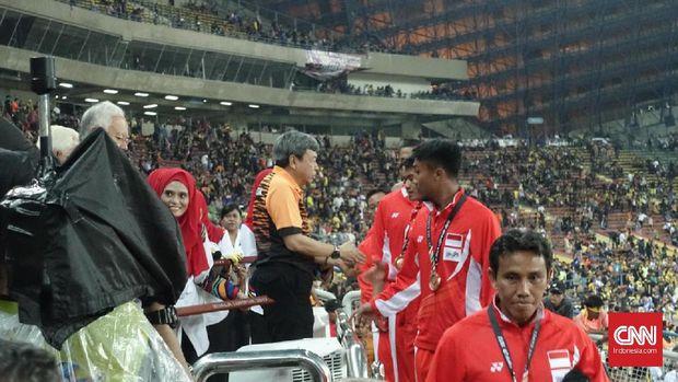 Bima Sakti ketika menjadi asisten pelatih Luis Milla di SEA Games 2017.