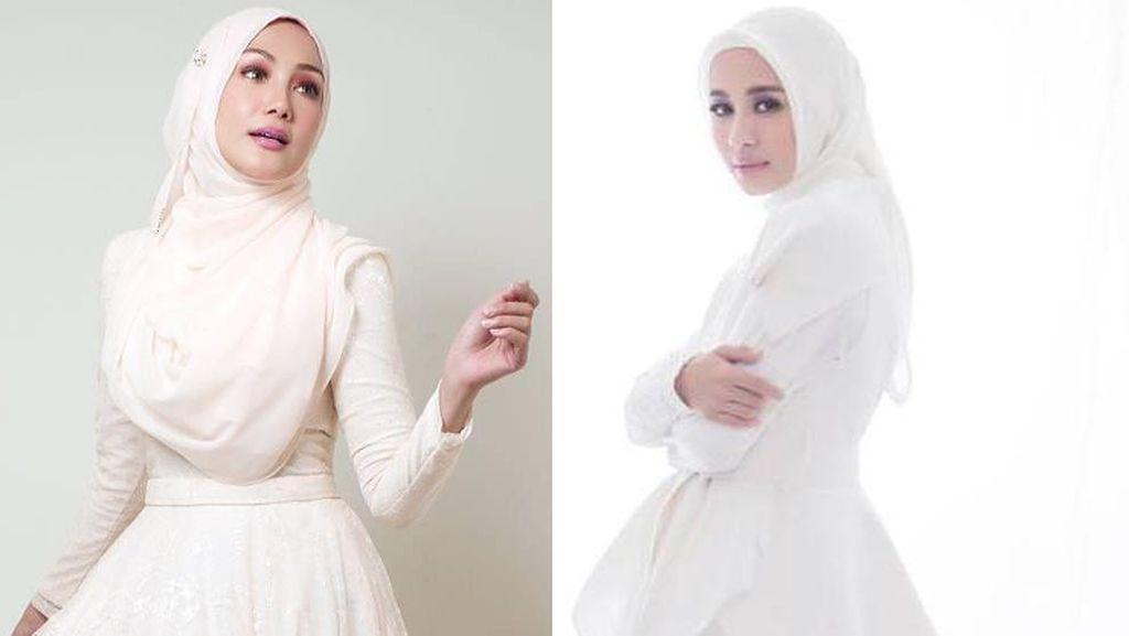 Foto: Adu Gaya Hijab Laudya Cynthia Bella VS Mantan Istri Engku Emran