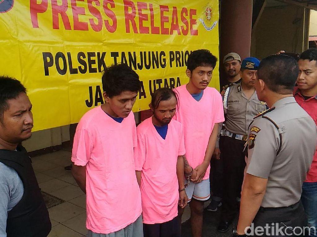 Lebih dari 20 Kali Beraksi, 3 Penjambret Dibekuk Polisi