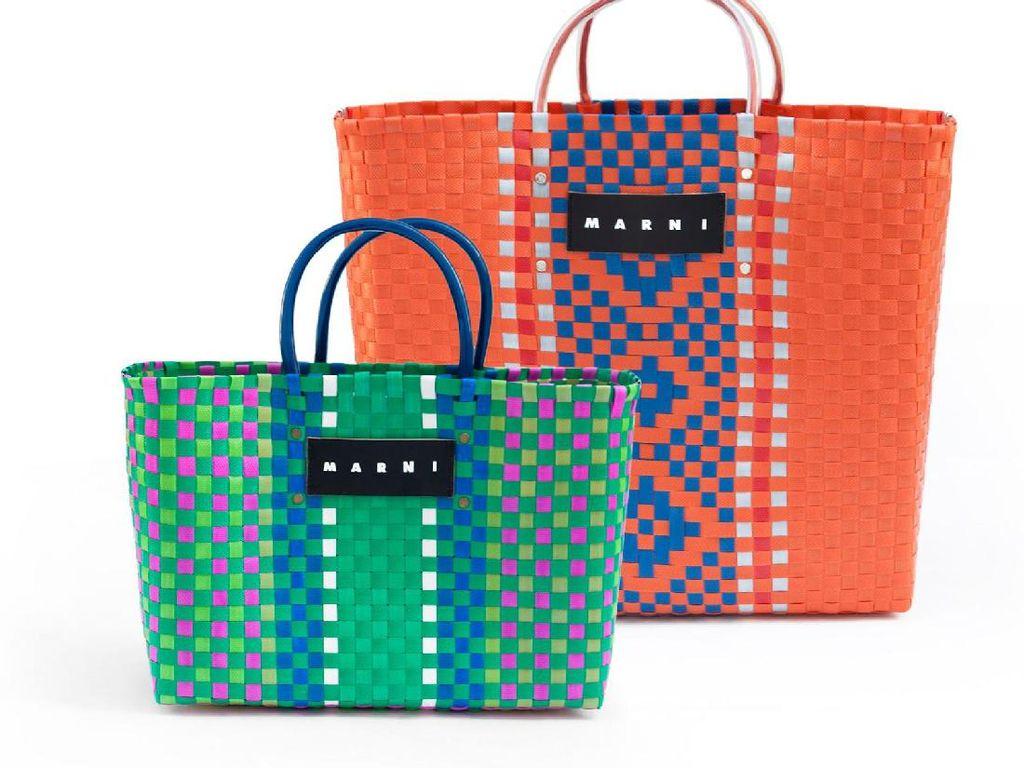 Di Tangan Desainer Dunia, Tas Belanja ke Pasar Kini Berharga Rp 7 Jutaan