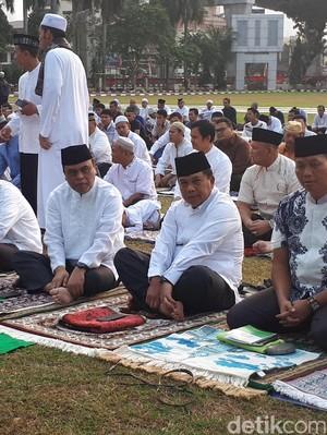 Wakapolri dan Pejabat Polri Salat Idul Adha di Lapangan Bhayangkara