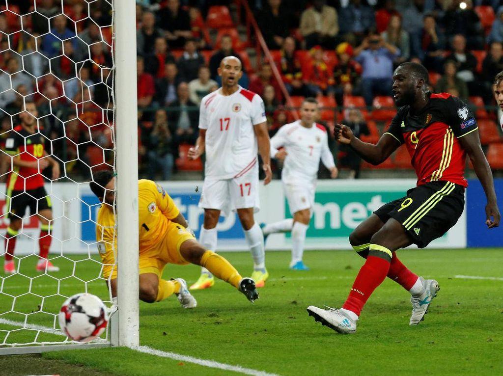 Lukaku Hat-trick, Belgia Pesta 9 Gol ke Gawang Gibraltar