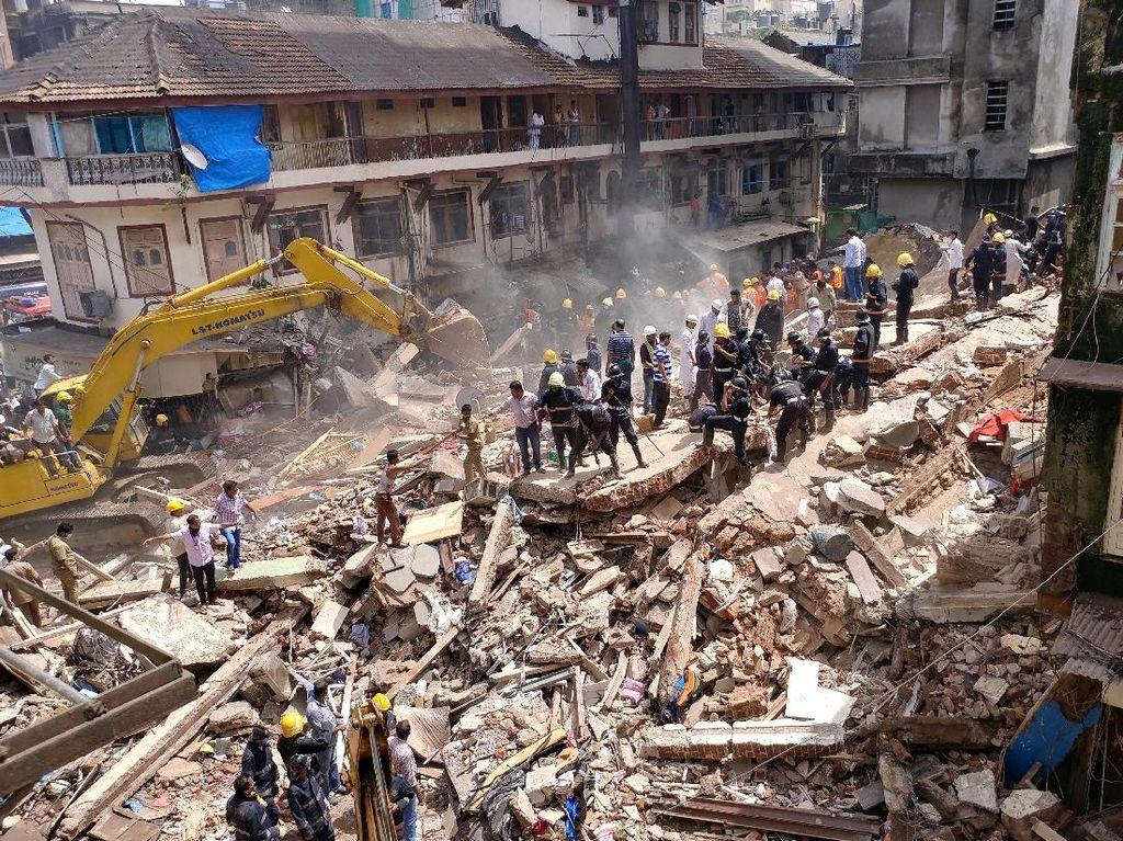 Korban Tewas Gedung Ambruk di Mumbai Jadi 33 Orang