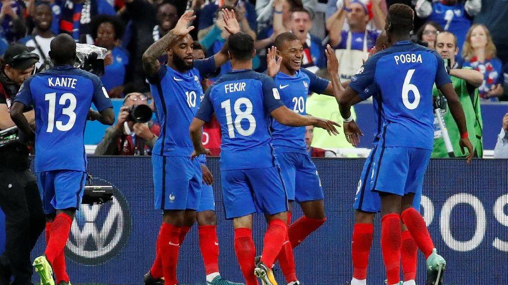 Mengintip Aksi Pemain Bintang Timnas Prancis Berlatih