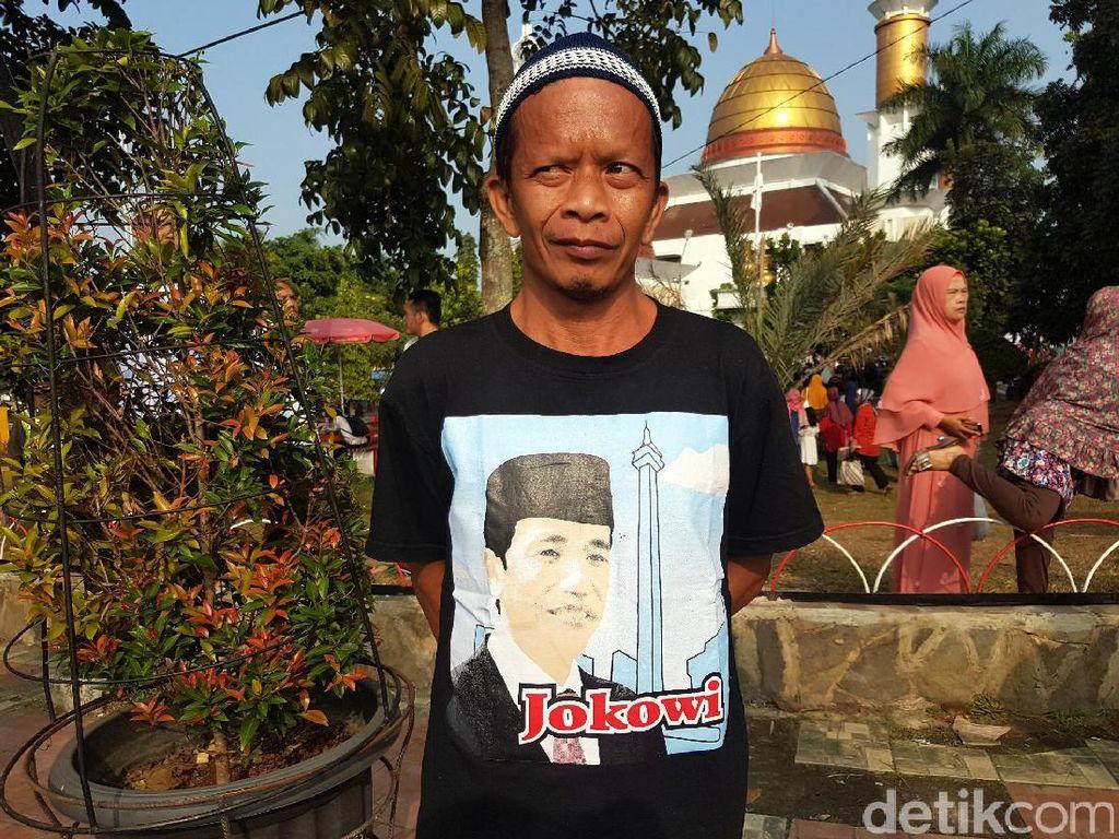 Senangnya Hendi Diberi Kaus Bergambar Jokowi oleh Paspampres