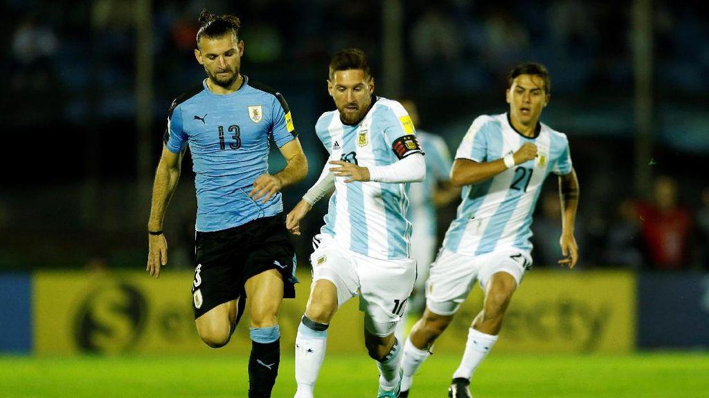 Suarez dan Messi Mandul, Uruguay Berbagi Angka dengan Argentina