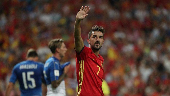 David Villa memutuskan untuk pensiun di akhir musim ini. (Foto: Sergio Perez/Reuters)