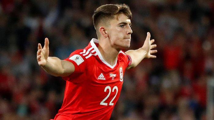 Ben Woodburn menangkan Wales atas Trinidad & Tobago di laga persahabatan, Kamis (21/3/2019) dini hari WIB. (Foto: John Sibley/Action Images via Reuters)