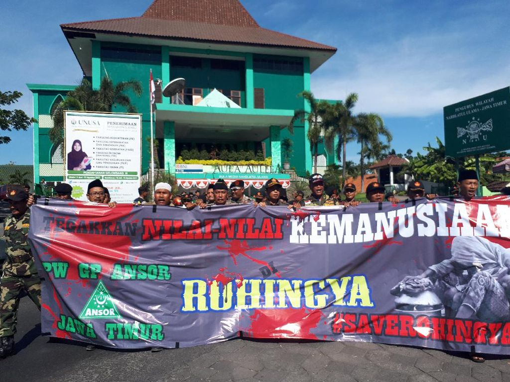 Banser Jatim Siap Dikirim ke Myanmar