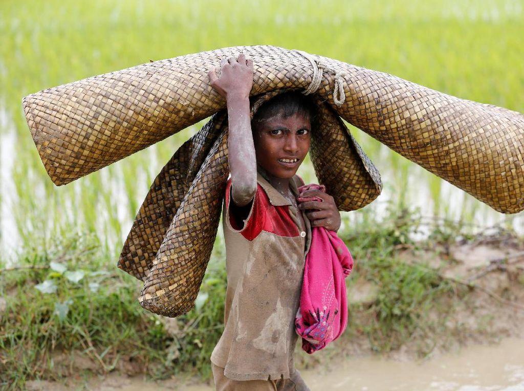 Tatapan Kosong Anak Rohingya