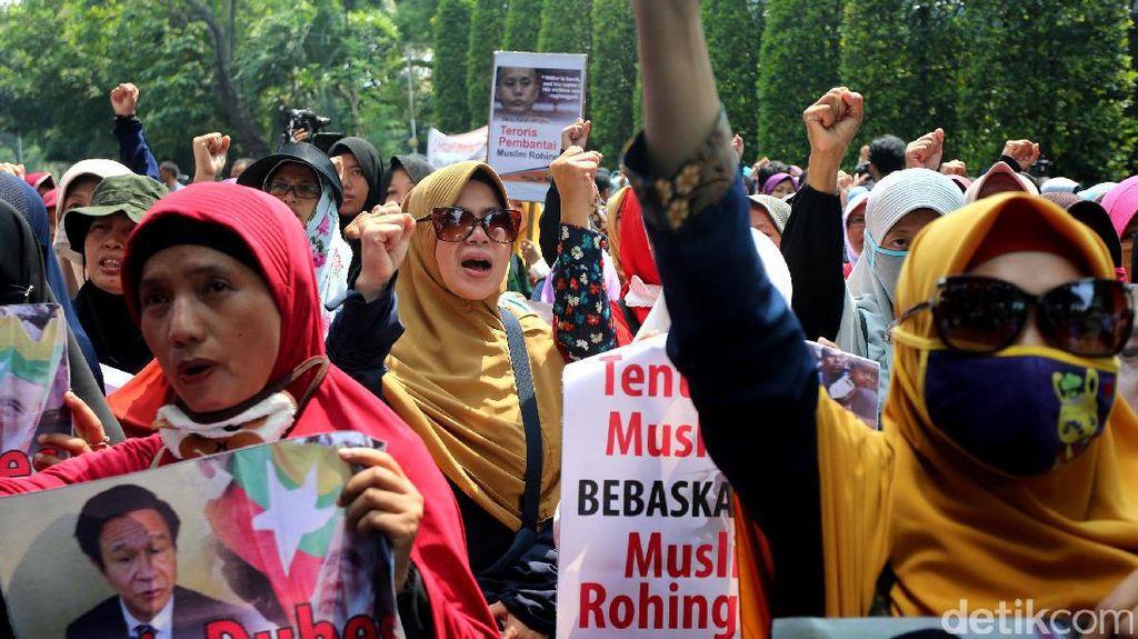 Kedubes Myanmar di Jakarta juga Didemo terkait Rohingya
