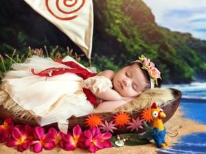 Foto: Cute! Saat Bayi Baru Lahir Jadi Moana Sampai Rapunzel