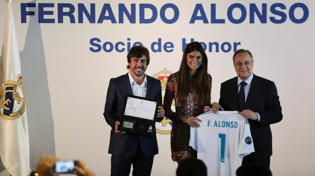 Fernando Alonso Jadi Anggota Kehormatan Real Madrid