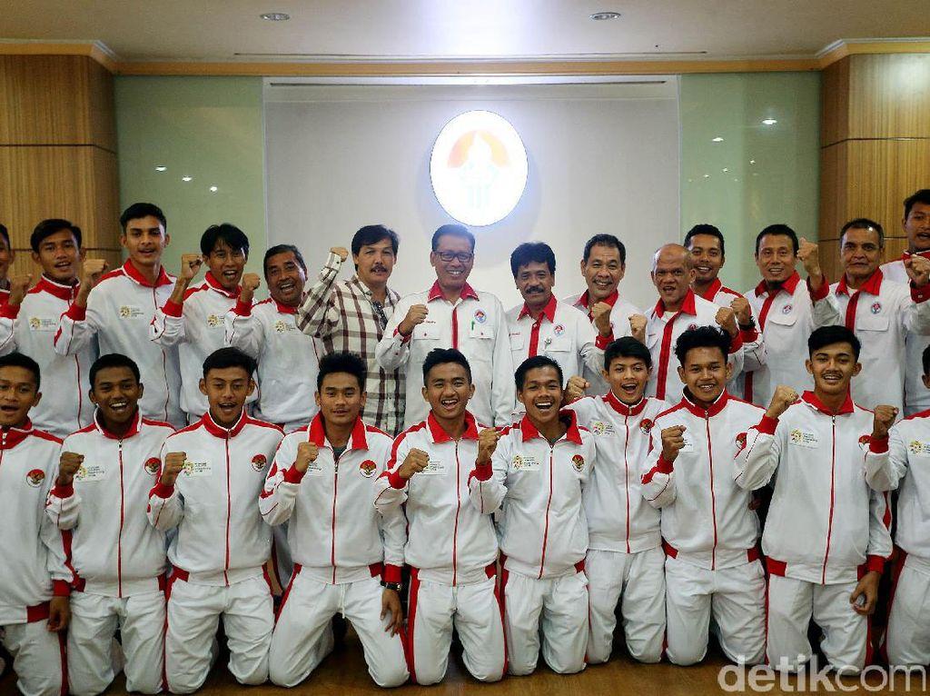 Pelepasan Tim Pelajar Indonesia ke Kejuaraan Sepakbola Asia U-18