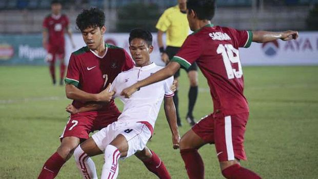 Timnas Indonesia meraih modal penting saat menaklukkan Myanmar 2-1. (