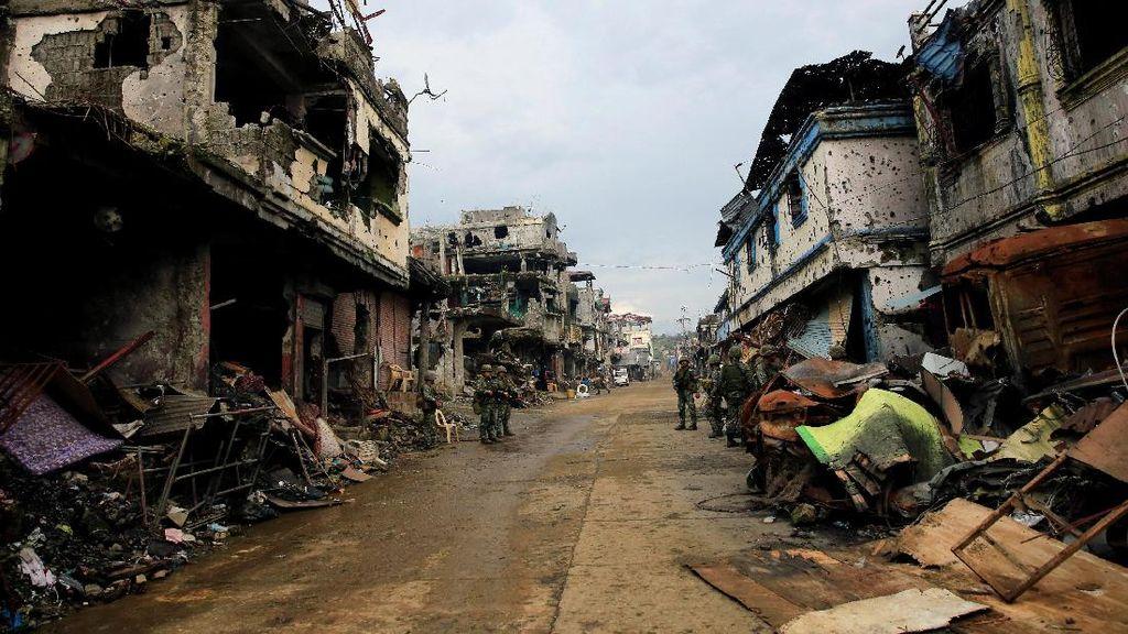 Jadi Medan Perang, Begini Kehancuran Kota Marawi