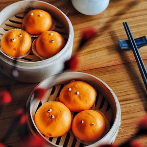 Resep Dim Sum : Steamed Custard Bun with Egg Yolk