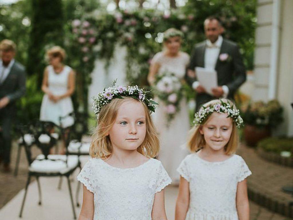 Foto: Cute!  Saat si Kecil Jadi Bridesmaid