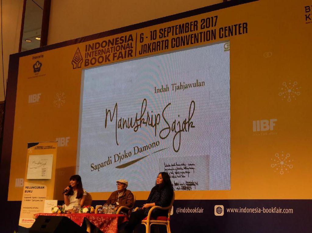 Manuskrip Sajak Sapardi Djoko Damono Berisi 200 Sajak Selama 13 Tahun