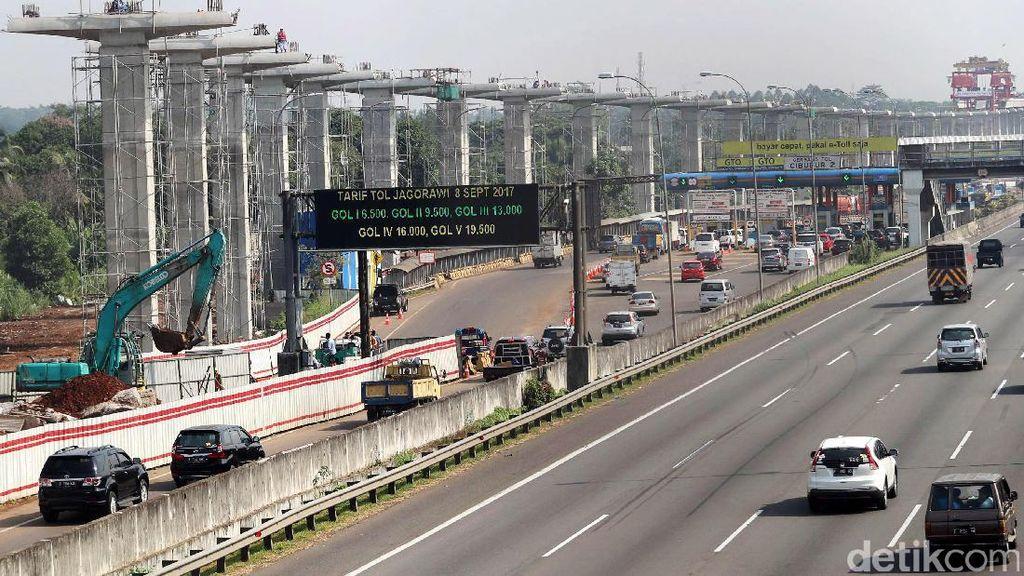Foto: Begini Penampakan Terkini Proyek LRT Cibubur-Cawang