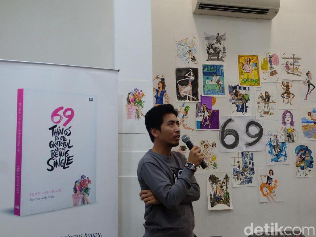 Emte Ciptakan Puluhan Karya Ilustrasi Asyiknya Jadi Perempuan Lajang