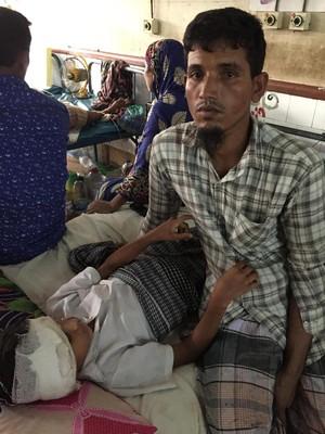 Tertembak dan Kena Bom, Anak-anak Rohingya Dirawat di Bangladesh