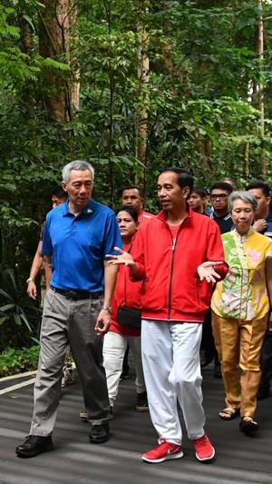 Merah-Putih dari Kepala sampai Kaki, Begini Gaya Jokowi di Singapura