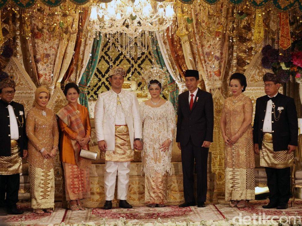 Foto: Jokowi-JK Jadi Saksi Pernikahan Putri OSO