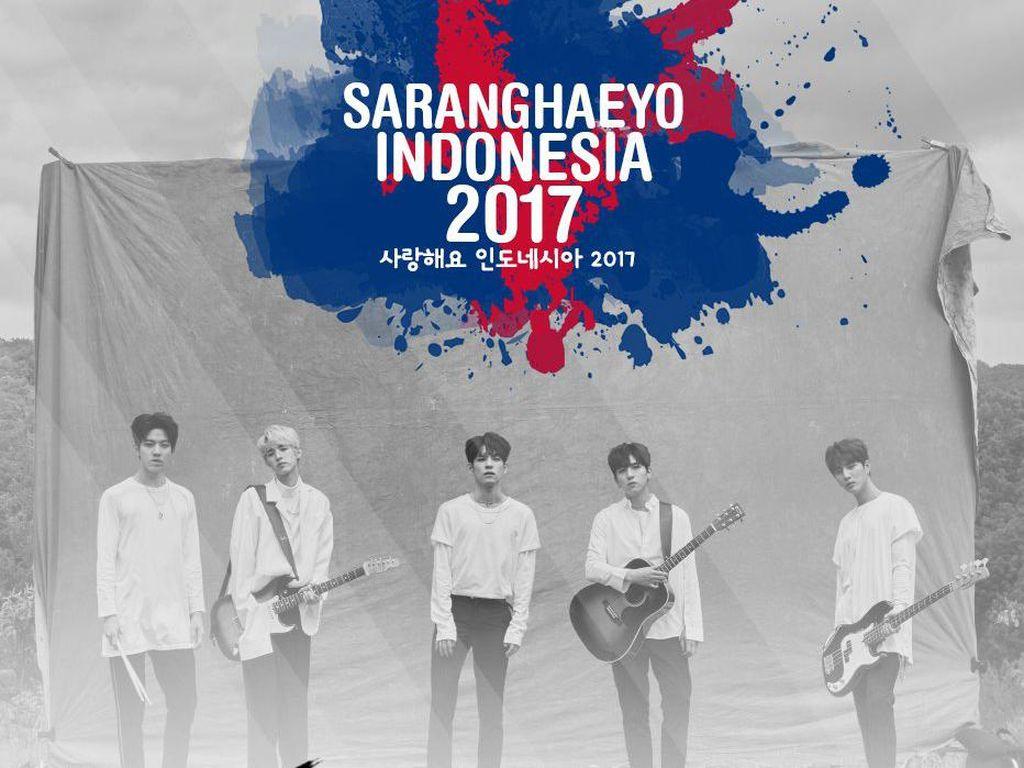 Day6 Jadi Line Up Selanjutnya di Konser Saranghaeyo Indonesia 2017