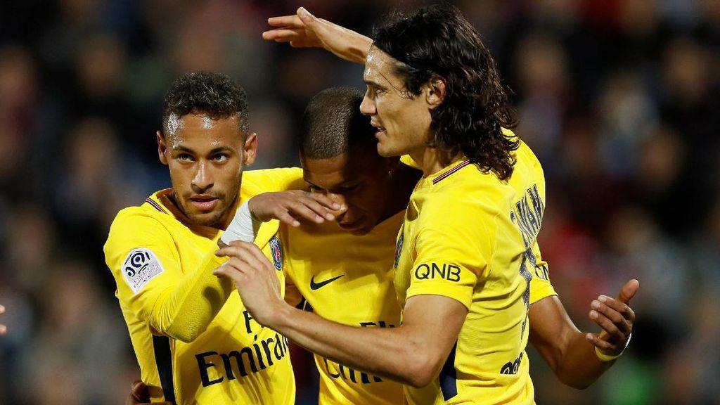 Turun Sejak Awal Pertandingan, Mbappe-Neymar Bawa PSG Menang Telak