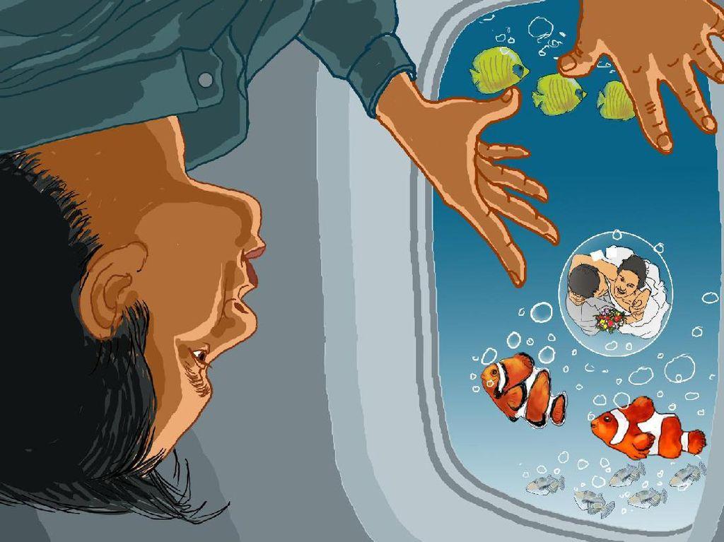 Ikan-ikan di Balik Jendela Bulat