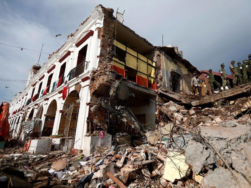 Begini Hancurnya Mexico City karena Gempa 8 SR