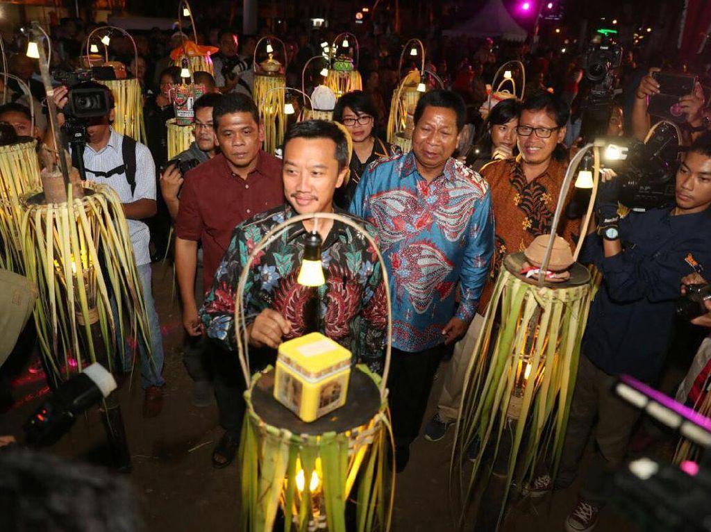 Menpora Hadiri Tirakatan Puncak Perayaan Haornas