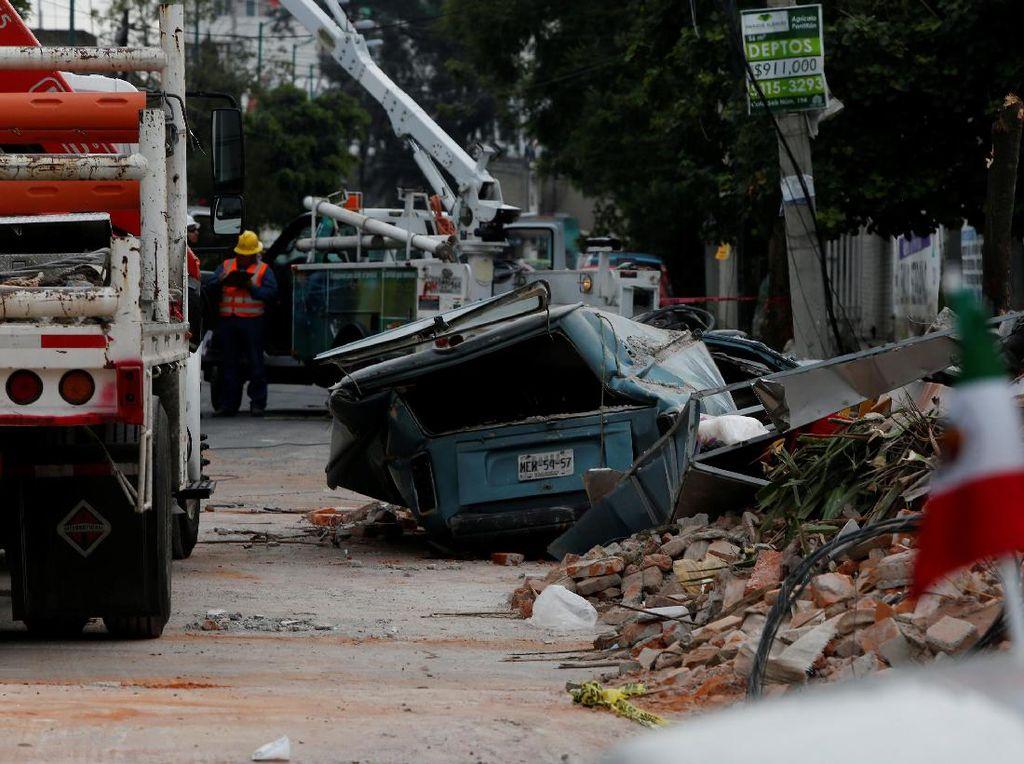 Potret Paniknya Warga Meksiko Saat  Diguncang Gempa 8 SR