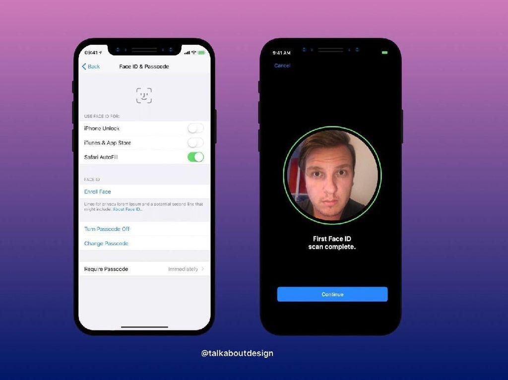 Begini Tampilan Face ID di iPhone X