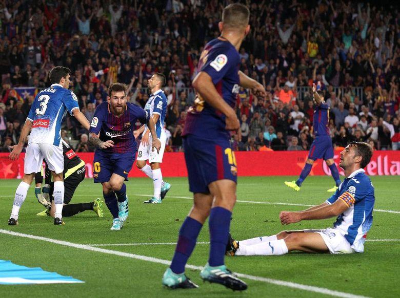 Benamkan Espanyol 5-0 Messi Mencetak Hat-Trick