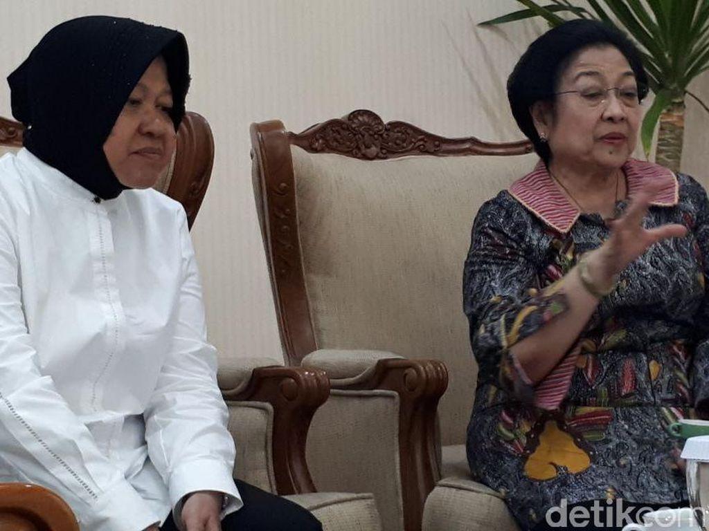 Saat Megawati Kaget Lihat Risma Kurusan Usai Jadi Mensos