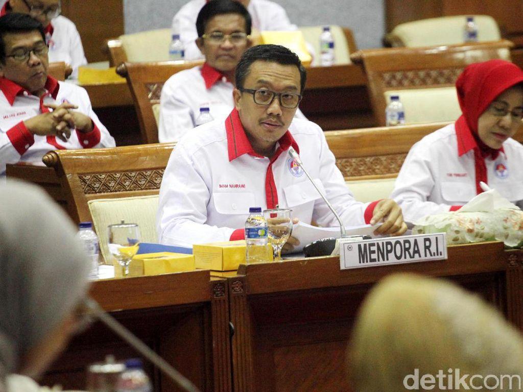 Menpora-Komisi X Bahas Anggaran Tahun 2018