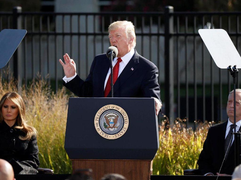 16 Tahun Tragedi 9/11, Trump: Amerika Tak Bisa Diintimidasi