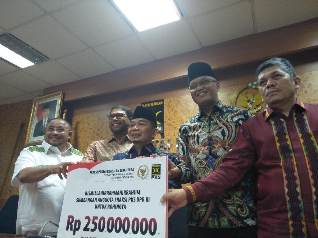 Bantu Warga Rohingya, Anggota PKS di DPR Saweran dari Gaji Bulanan