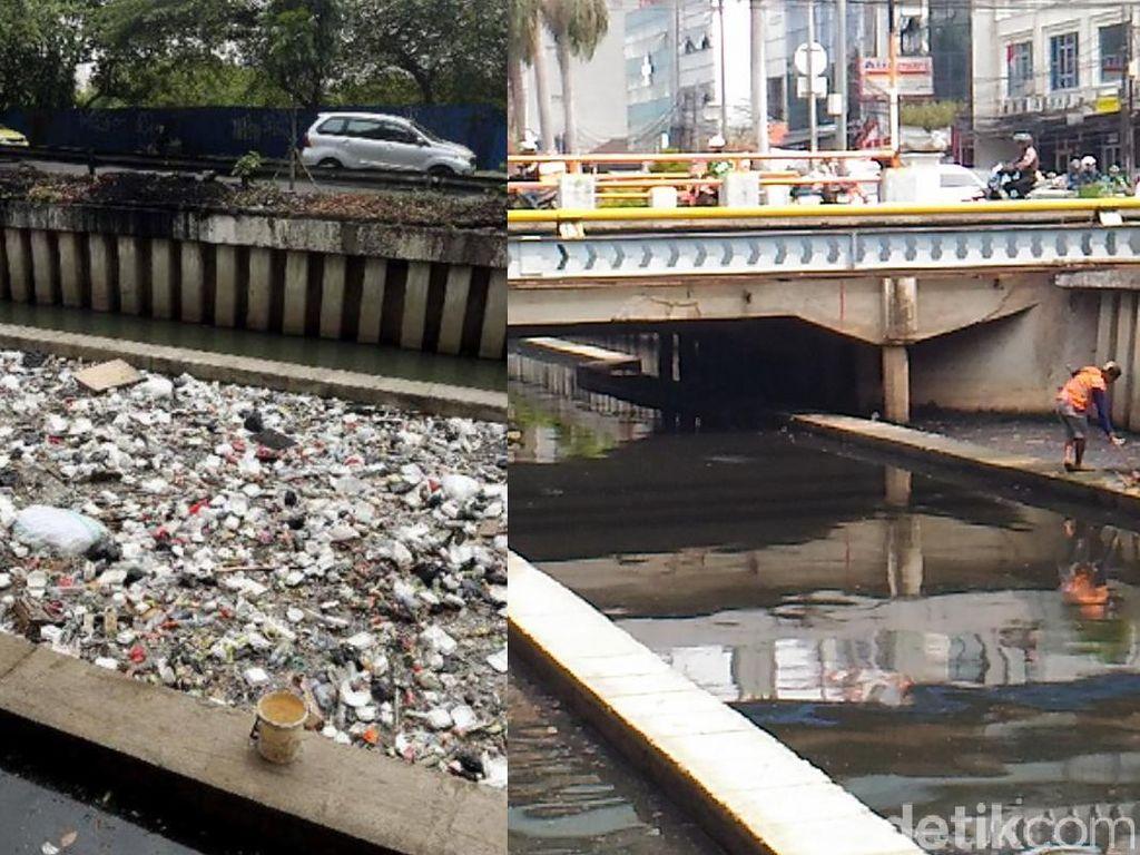 Begini Before-After Kali Cideng yang Sempat Penuh Sampah