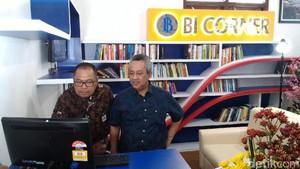 Sosialisasikan Tugas, BI Corner Dipasang di Perpustakaan Boyolali