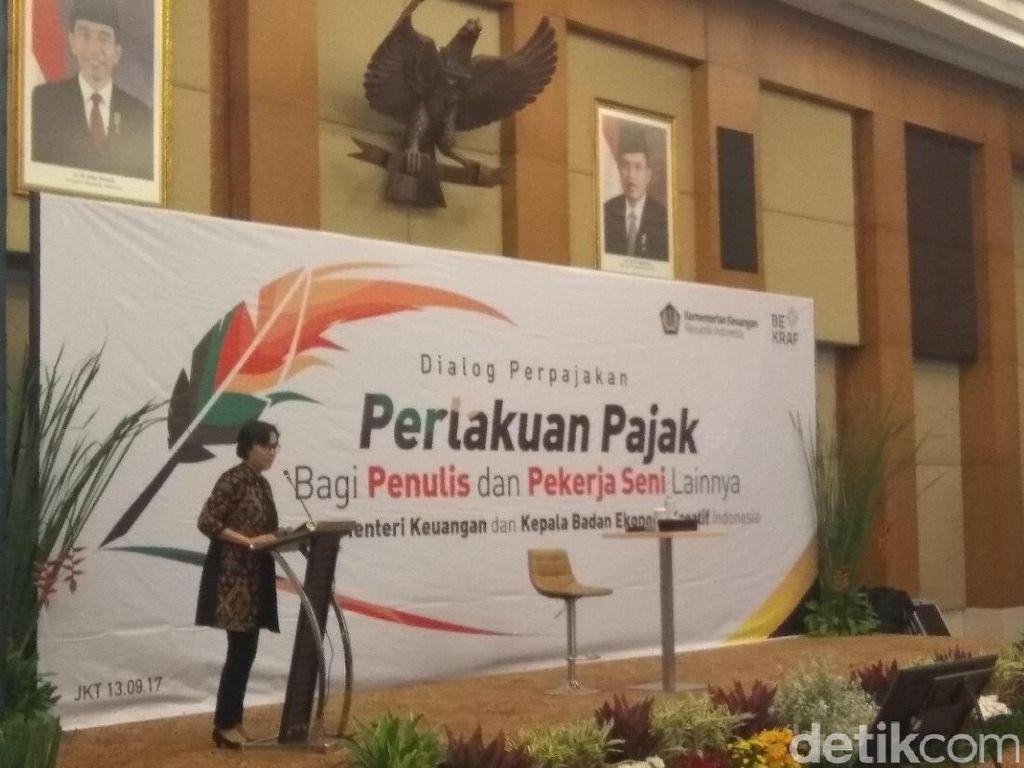 Tere Liye Protes, Sri Mulyani Beri Kuliah Pajak di Depan Pelaku Seni