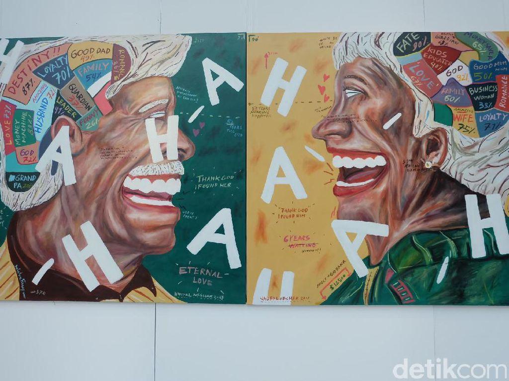 Perayaan 50 Tahun Singapura-Indonesia Hadir Lewat Lukisan Naufal Abshar