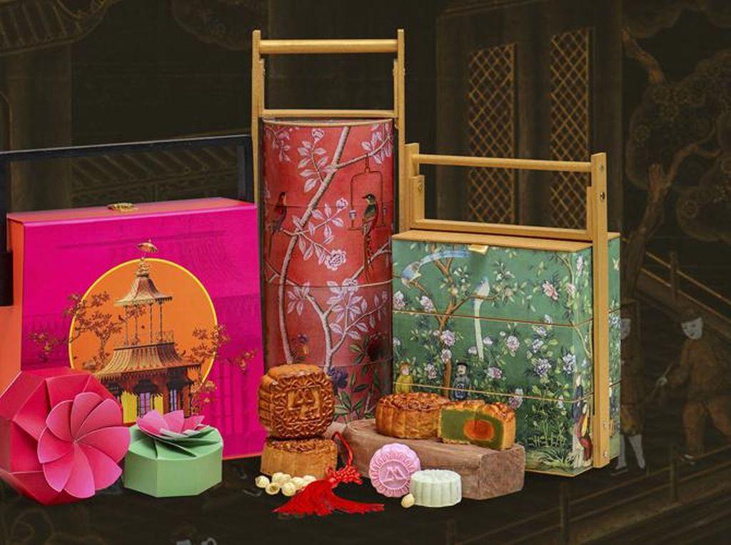 Kue Bulan dengan Rasa Durian Hingga Champagne Disajikan dalam Kotak Ekslusif