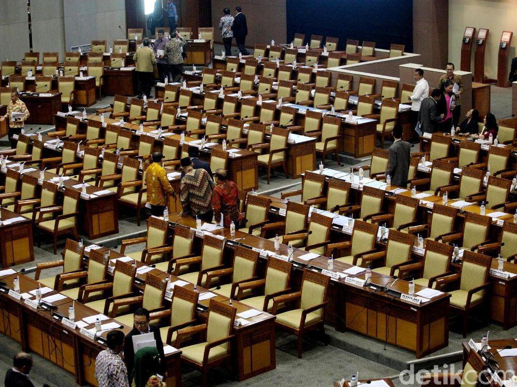 Lagi, Sebanyak 356 Kursi Kosong di Sidang Paripurna