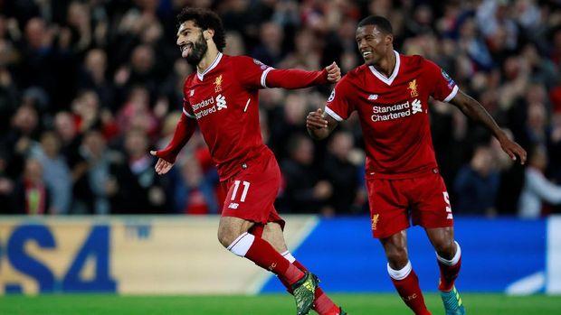 Mohamed Salah sempat membawa Liverpool berbalik unggul 2-1.