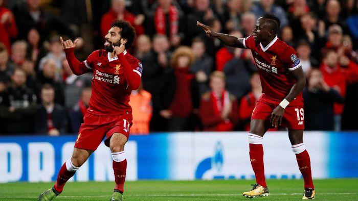 Mohamed Salah dan Sadio Mane (Jason Cairnduff/Action Images via Reuters)