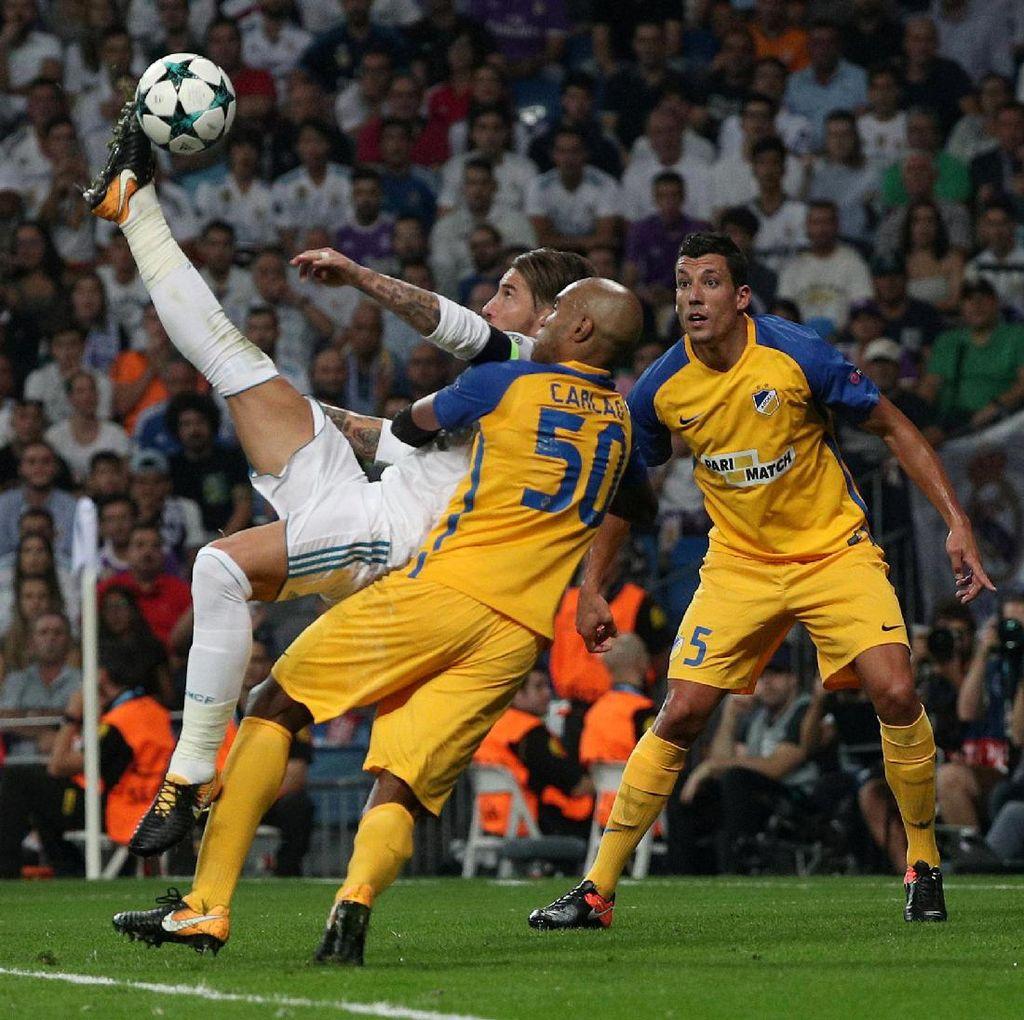 Zidane Takkan Bisa Bikin Gol Salto seperti Ramos