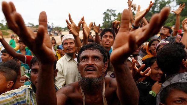 Pengungsi Rohingya di Bangladesh.